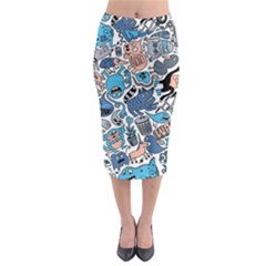 Gross Patten Now Midi Pencil Skirt