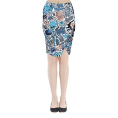 Gross Patten Now Midi Wrap Pencil Skirt