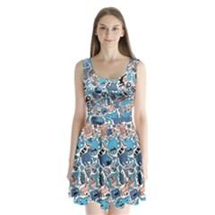 Gross Patten Now Split Back Mini Dress