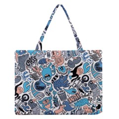 Gross Patten Now Medium Zipper Tote Bag