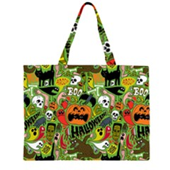 Halloween Pattern Large Tote Bag