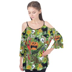Halloween Pattern Flutter Tees