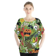 Halloween Pattern Blouse