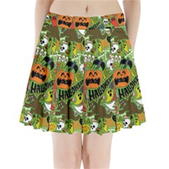 Halloween Pattern Pleated Mini Skirt
