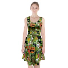 Halloween Pattern Racerback Midi Dress