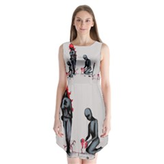 Elastic Heart  Sleeveless Chiffon Dress