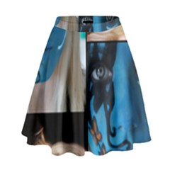 Holliwood Face Painting High Waist Skirt