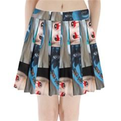 Holliwood Face Painting Pleated Mini Skirt