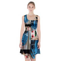 Holliwood Face Painting Racerback Midi Dress