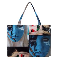 Holliwood Face Painting Medium Zipper Tote Bag