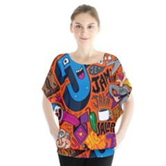 J Pattern Cartoons Blouse
