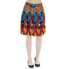 J Pattern Cartoons Pleated Skirt