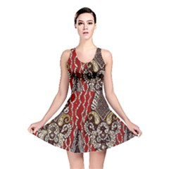 Indian Traditional Art Pattern Reversible Skater Dress