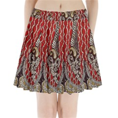 Indian Traditional Art Pattern Pleated Mini Skirt