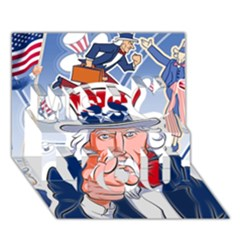 Independence Day United States Of America Miss You 3D Greeting Card (7x5)