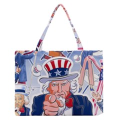 Independence Day United States Of America Medium Zipper Tote Bag