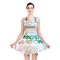 Imagine Dragons Quotes Reversible Skater Dress