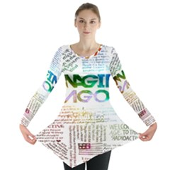 Imagine Dragons Quotes Long Sleeve Tunic
