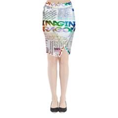 Imagine Dragons Quotes Midi Wrap Pencil Skirt