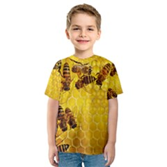 Honey Honeycomb Kids  Sport Mesh Tee
