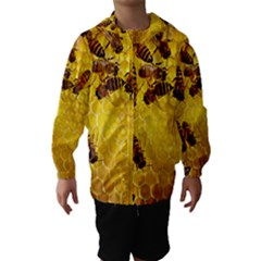 Honey Honeycomb Hooded Wind Breaker (Kids)