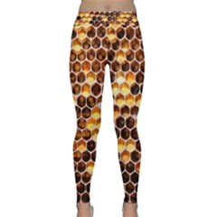 Honey Honeycomb Pattern Yoga Leggings