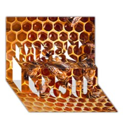 Honey Bees Miss You 3D Greeting Card (7x5)