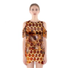 Honey Bees Cutout Shoulder Dress
