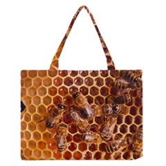 Honey Bees Medium Zipper Tote Bag