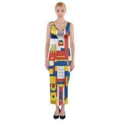 Hide And Seek Fitted Maxi Dress