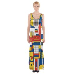 Hide And Seek Maxi Thigh Split Dress