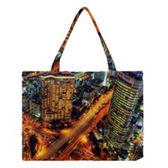 Building City Night Medium Tote Bag