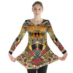 Hail Fine Art Print Long Sleeve Tunic