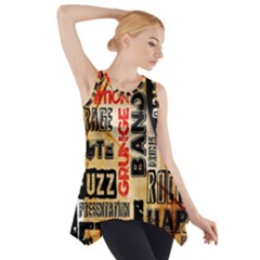 Guitar Typography Side Drop Tank Tunic