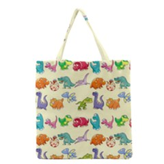Group Of Funny Dinosaurs Graphic Grocery Tote Bag