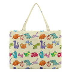 Group Of Funny Dinosaurs Graphic Medium Tote Bag