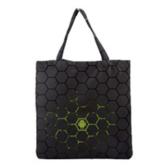 Green Android Honeycomb Gree Grocery Tote Bag