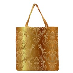 Golden Pattern Vintage Gradient Vector Grocery Tote Bag