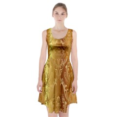 Golden Pattern Vintage Gradient Vector Racerback Midi Dress