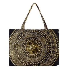 Gold Roman Shield Costume Medium Tote Bag