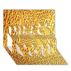 Gold Pattern Miss You 3D Greeting Card (7x5)