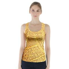Gold Pattern Racer Back Sports Top