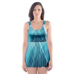 Glass Building Skater Dress Swimsuit