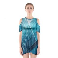 Glass Building Cutout Shoulder Dress