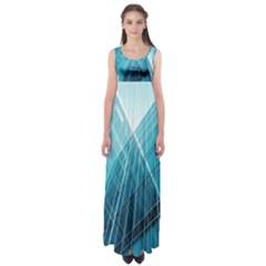 Glass Building Empire Waist Maxi Dress