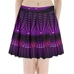 Glass Ball Texture Abstract Pleated Mini Skirt