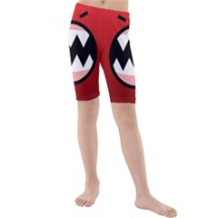 Funny Angry Kids  Mid Length Swim Shorts