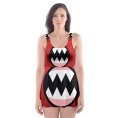 Funny Angry Skater Dress Swimsuit