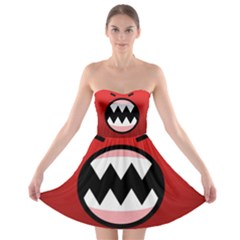 Funny Angry Strapless Bra Top Dress
