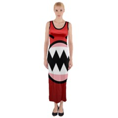 Funny Angry Fitted Maxi Dress
